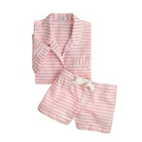 Short-sleeve sleep set in stripe