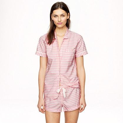 Short-sleeve sleep set in stripe