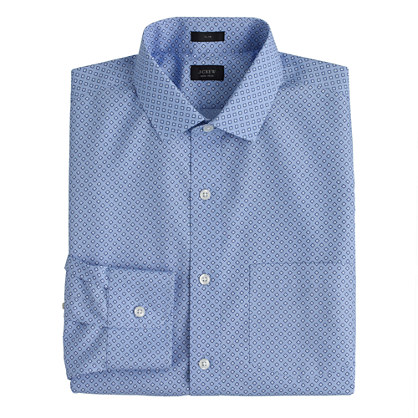 Slim Ludlow Traveler  shirt in foulard print