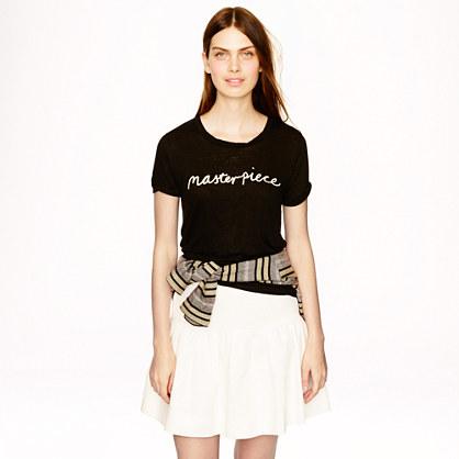 "Hugo Guinness for J.Crew ""masterpiece"" linen T-shirt"