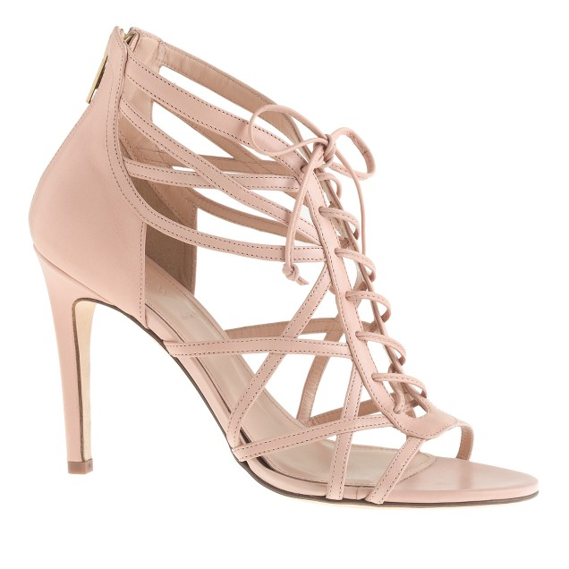 Collection lace-up cage high-heel sandals