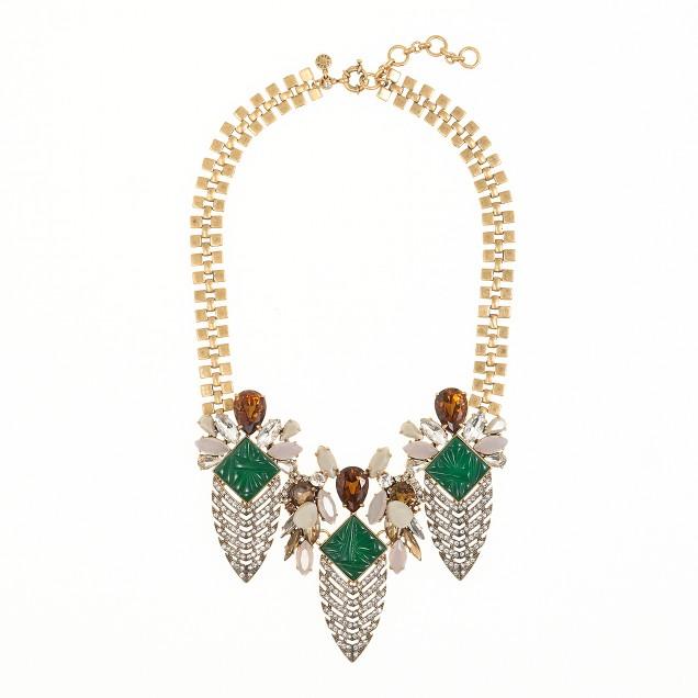Deco arrowhead necklace