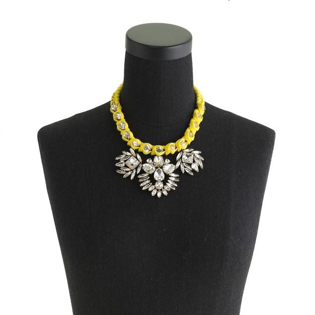 Vivid lemon crystal necklace