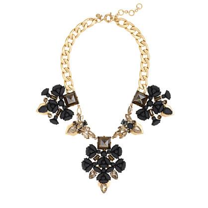 Punk floral necklace