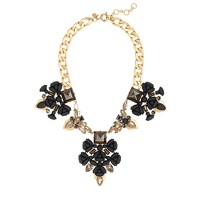Punk floral necklace