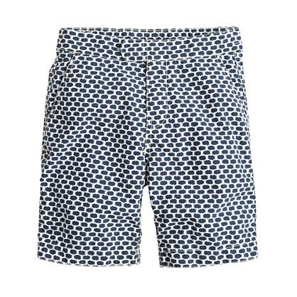 Boys' tab swim short in honeycomb