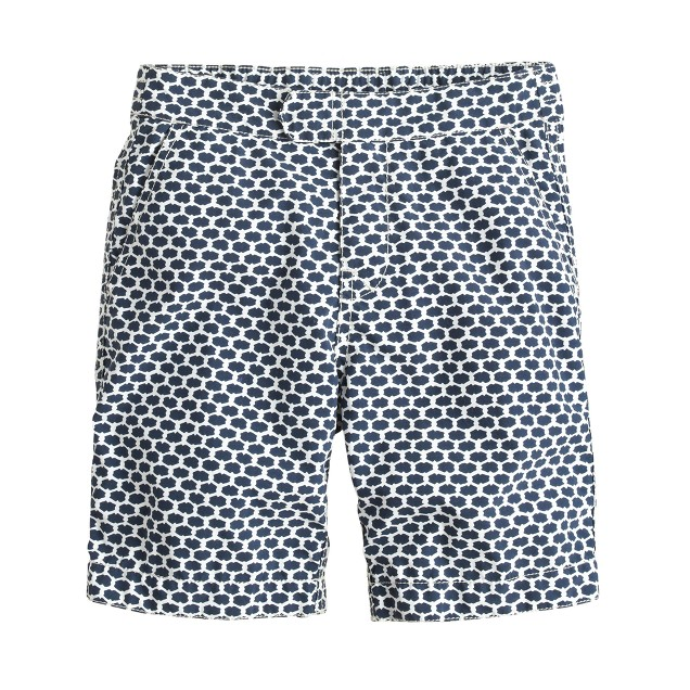 Boys' tab swim short in honeycomb