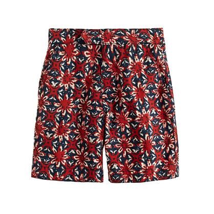 Boys' tab swim short in batik floral