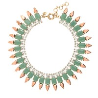Mint spike necklace
