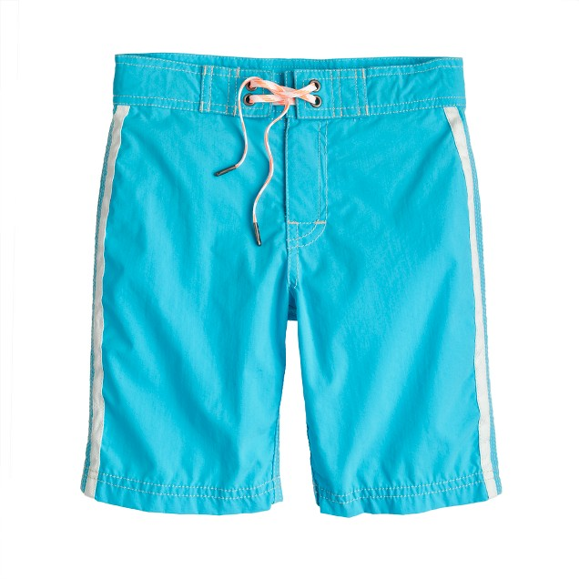 Boys' board short in side stripe