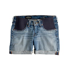 Maternity denim short in patina wash