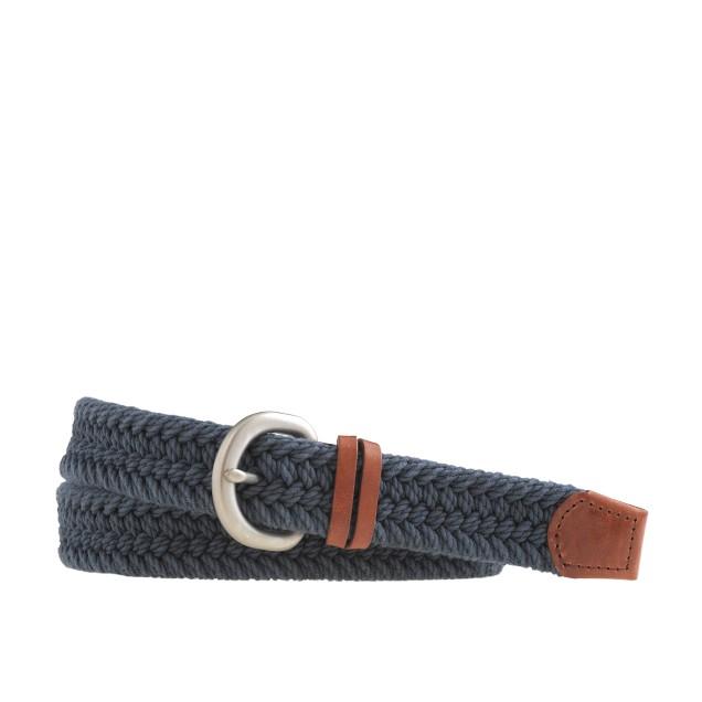 Woven nautical belt