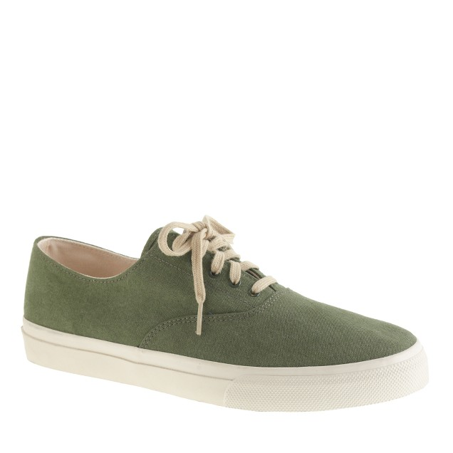 Men's Sperry Top-Sider® for J.Crew CVO sneakers in vintage tent canvas