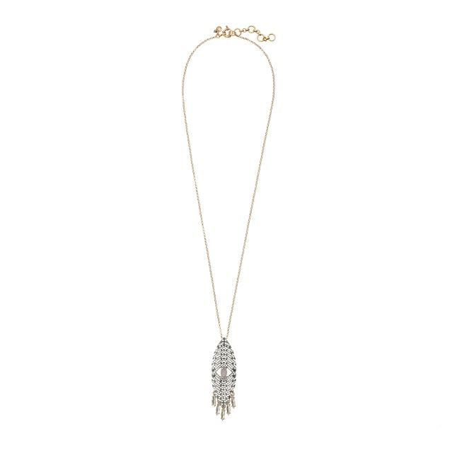 Deco arrowhead pendant necklace