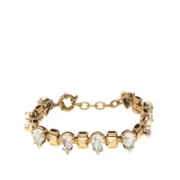 Pyramid-studded crystal bracelet