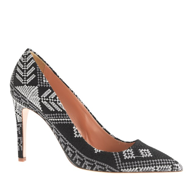Falsetto cross-stitch pumps