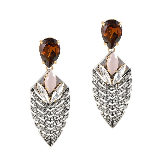 Deco arrowhead earrings