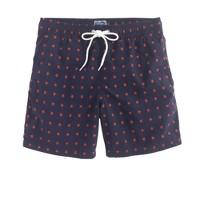 "6"" swim trunk in red stars"