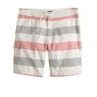 "9"" board short in stripe oxford cloth"
