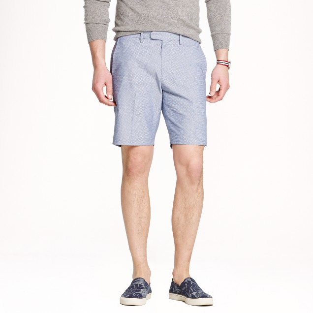 Bowery slim short in chambray dot