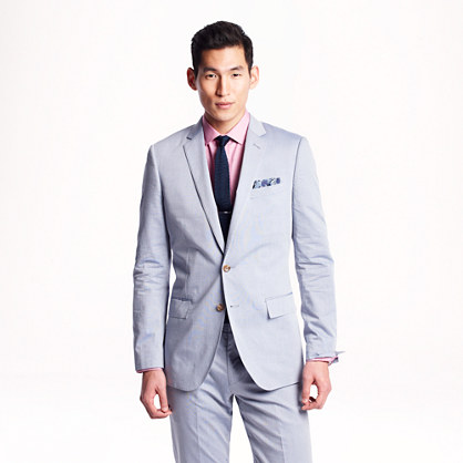 Ludlow suit jacket in microstripe cotton