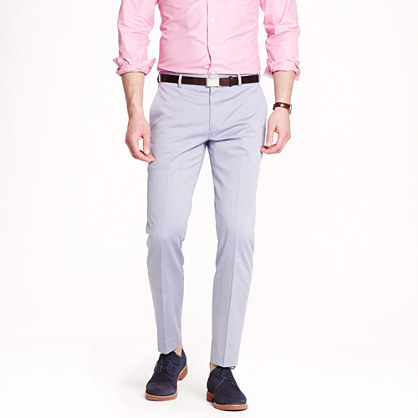 Ludlow slim suit pant in microstripe cotton