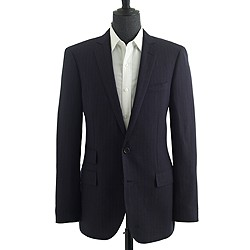 Ludlow suit jacket in rope stripe Italian wool-linen