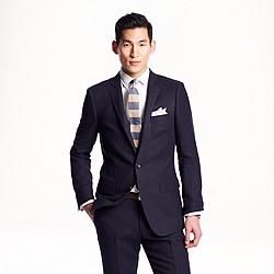 Ludlow suit jacket in rope stripe Italian wool-linen