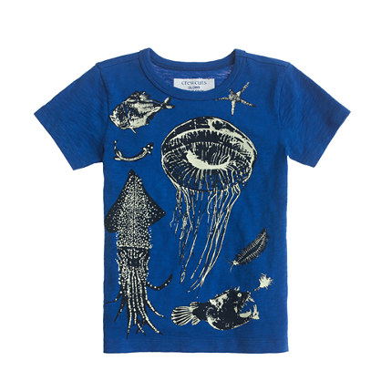 Boys' glow-in-the-dark deep ocean tee