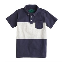 Boys' vintage jersey polo in stripe