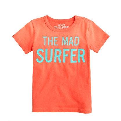 Boys' mad surfer tee