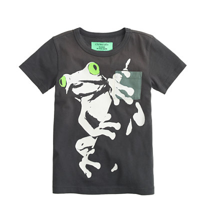 Boys' glow-in-the-dark frog tee