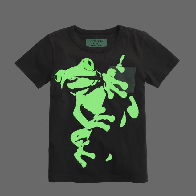 Boys' glow-in-the-dark frog tee