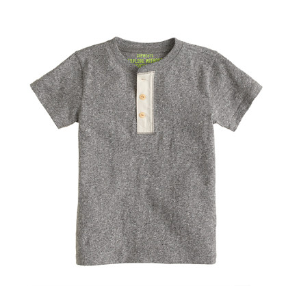 Boys' short-sleeve heather henley