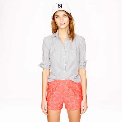 Tap short in neon coral jacquard