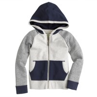 Boys' baseball zip hoodie