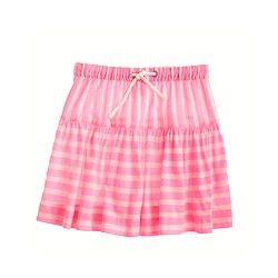 Girls' contrast-stripe skirt