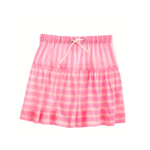 Girls' contrast-stripe skirt