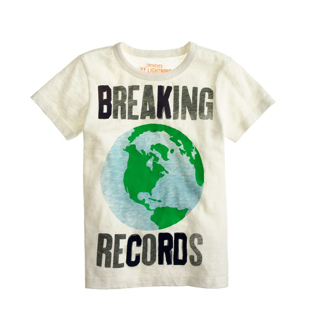 Boys' breaking world records tee