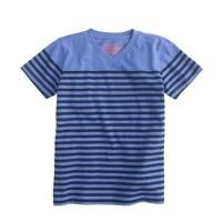 Boys' stripe V-neck tee in Pacific stripe