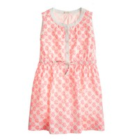 Girls' woodblock paisley dress