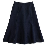 Seamed matelassé skirt