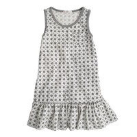 Girls' glitter medallion tank dress