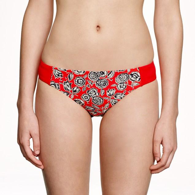 Graphic floral reversible bikini