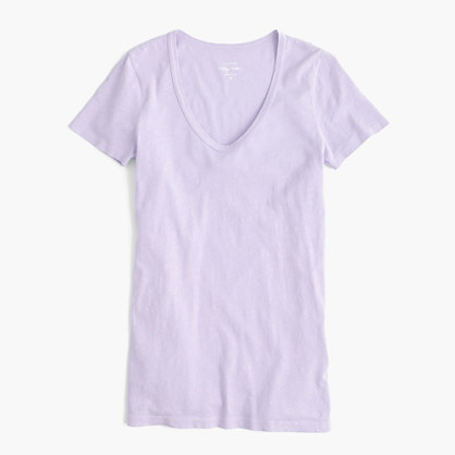 Vintage cotton scoopneck T-shirt