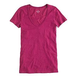 Vintage cotton scoopneck T-shirt