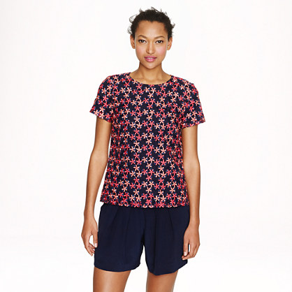 Collection floral organza T-shirt