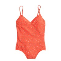 Star-print V-neck one-piece swimsuit