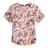 Collection silk floral T-shirt