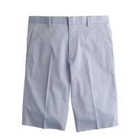 Ludlow suit short in microstripe cotton